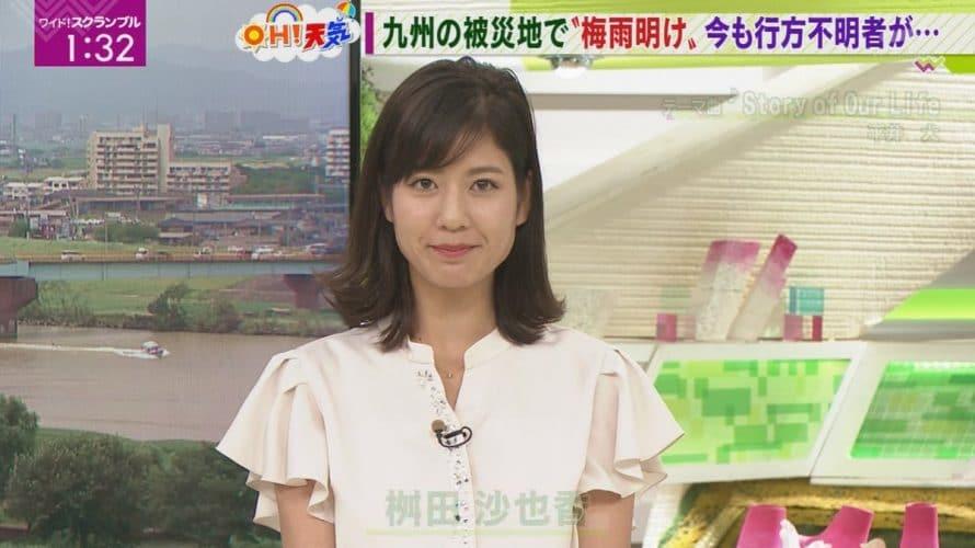 桝田沙也香アナのカップは?ワイドスクランブルのお天気で高校は?