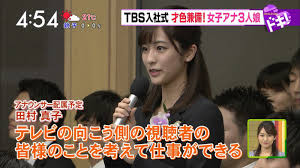 TBS新人田村真子アナがかわいい!画像や高校大学とカップは?